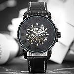 Clearance Watches for Men, Keller & Weber Luxury Watch, Automatic Mechanical Steampunk Gear Men Male Wristwatch 7