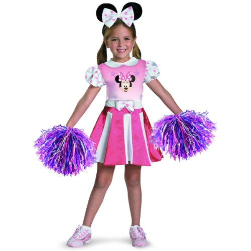 Disney Mickey Mouse Clubhouse Minnie Mouse Cheerleader Girls Costume, Medium/7-8