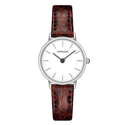 Uhren & Schmuck Armband- & Taschenuhren White Ladies Leather Fashion Watch With Flower Face