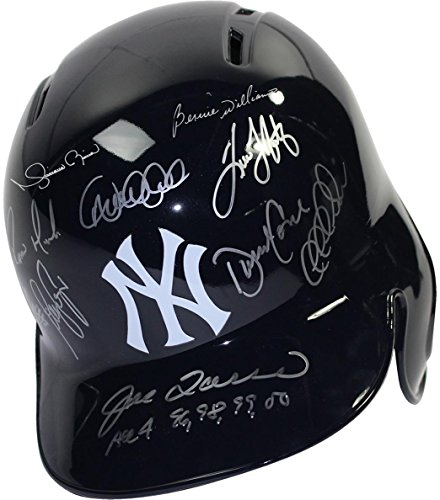 - Steiner Sports New York Yankees 11 Signature Dynasty Batting Helmets Left Ear Flap w/