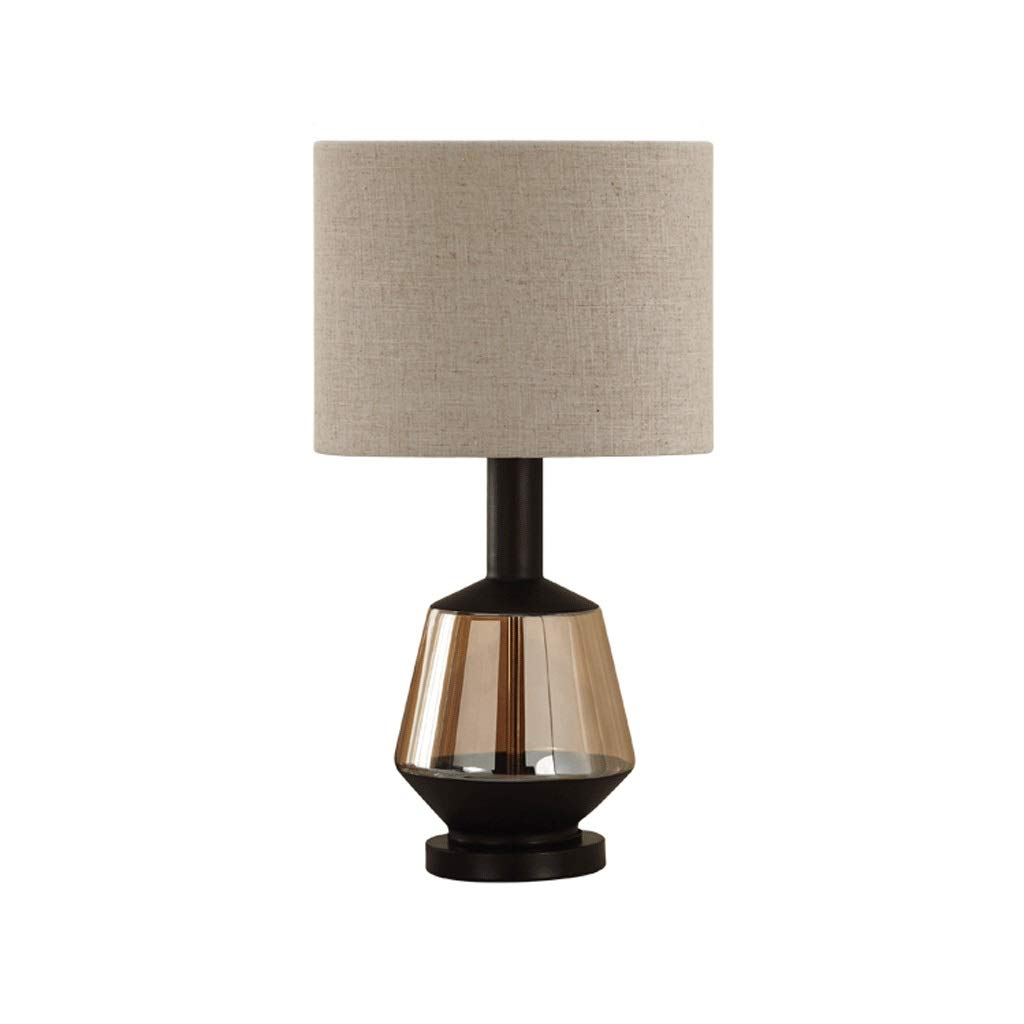 Weiyue Table lamp- Postmodern Nordic Light Luxury Lamp Bedroom Bedside Lamp Creative Simple Modern Living Room, Push Button Switch (Color : B, Size : 52x28cm)