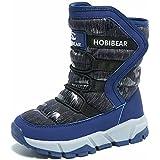 GUBARUN Boys Snow Boots Kids Outdoor Warm Shoes Waterproof (Blue, 1.5)