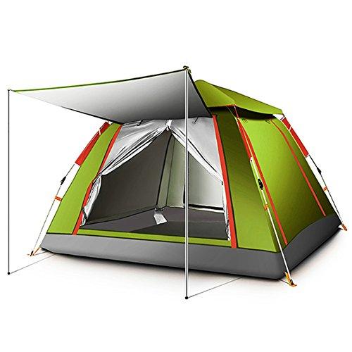 イベントドル想定TY&WJ 全自動 キャンプテント,防雨 ドームテント アウトドア スポーツの 登山 ハイキング 4 シーズン ティーピー 日焼け 3-4 人