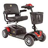 BUZZAROUND EX Extreme 4-Wheel Heavy Duty Long Range Travel Scooter, Red, 20-Inch Seat