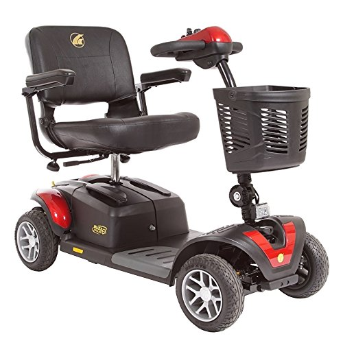 BUZZAROUND EX Extreme 4-Wheel Heavy Duty Long Range Travel Scooter, Red, 20-Inch Seat by Golden Technologies