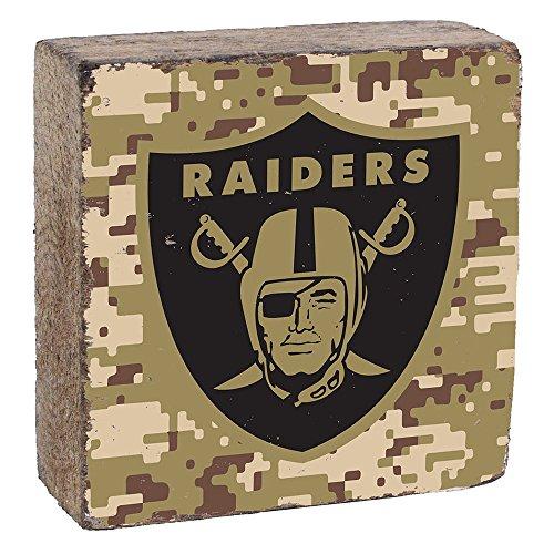 NFL Oakland Raiders, Camo Logo Block by Rustic Marlin, 6