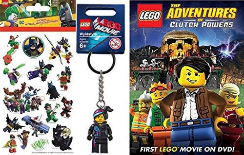 Wyldstyle Lego Adventures of Clutch Powers DVD Animated Movie & Lego Mini Figure Key Chain Fun Pack + Bonus Batman Super Stickers (Lego Wreck It Ralph)