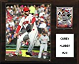 "C&I Collectables MLB Cleveland Indians Corey Kluber Player Plaque, 12""x15"""