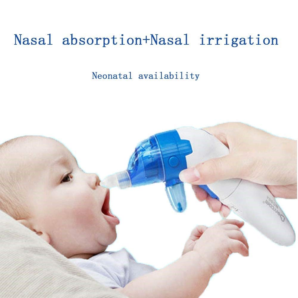 Yaluo 2 in 1 Baby Nasal Aspirator Electric Sinus Rinse Kit Newborn Nose Wash Cleaner Rhinitis Allergy Deeply Clean for Infants & Toddlers by Yaluo