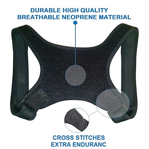 """Posture Corrector for Women & Men – Comfortable Upper Back Brace that Fits Chest Circumference 35"""" to 49"""" - Adjustable and Lightweight for Neck Shoulder & Back Pain Relief - FDA Approved by Daysam Care (Image #1)"""