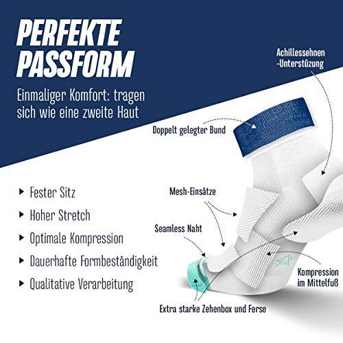 INCYLENCE Sibs gepolsterte Laufsocken kurz, leichte Running Socks, atmungsaktive low cut socks, Blasenschutz Kompressionssocken, 35-46