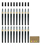 Pentel Fude Brush Pen, Medium, 20-pack, Sticky Notes Value Set