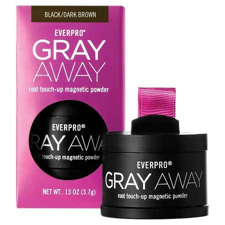 Everpro Gray Awy Tchup Bl Size .13z Everpro Gray Away Women Root Touch Up Powder Black/Dark Brown .13z