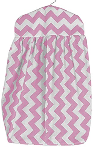 BabyDoll Chevron Dot Diaper Stacker, Pink baby doll bedding 705ds