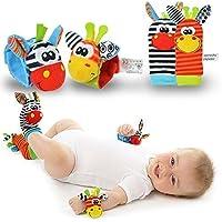 New Born Baby Socks Wrist Bands Rattle SOUNDS Rattling Sensory Toy Infant Child