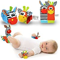 Senshi Japan New Born Baby Socks Bracelets Rattle SONORITÉS Rattling Sensory Toy Enfant en bas âge