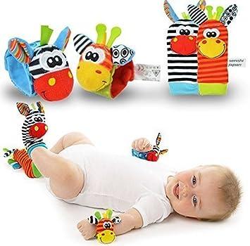 Calcetines de sonajero - Calcetines de bebé - Sozzy New Born Baby Socks Pulseras Sonajero SONIDOS