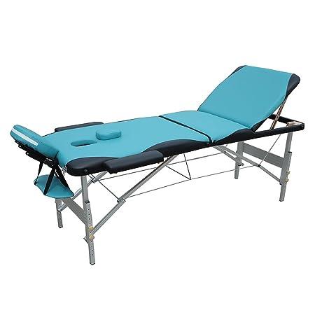 Melko® Profi Massageliege 2, 3 oder 4 Zonen aus Aluminium und Holz, klappbar und höhenverstellbar - inkl. Schutzhülle (3 Zone