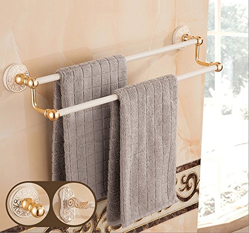 Aluminum Alloy 50cm Space Double Holder Towel Rails - 4