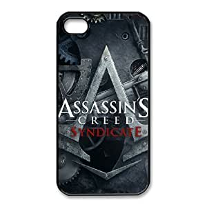 iphone4 4s case,iphone4 4s Cell phone case Black Assassin's Creed Syndicate-PUU4902672