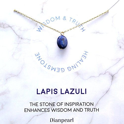 [Premium Gemstone] Lapis Lazuli necklace, Best friend necklace, gemstone Necklace, friendship necklace, Gold dainty necklace, February birthstone, natural stone, healing crystal, Lapis Lazuli