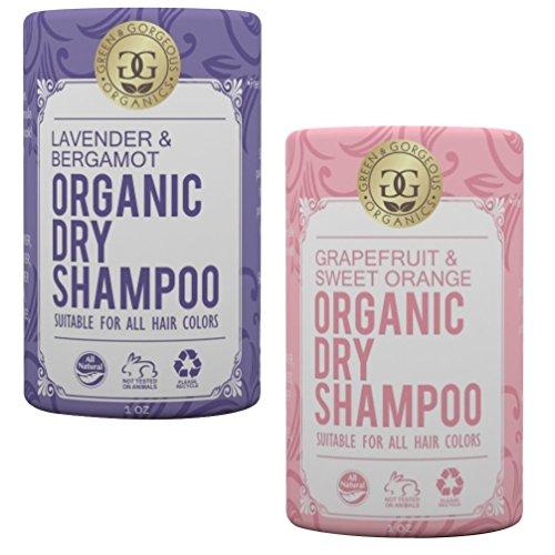 Green & Gorgeous Organics Dry Shampoo - Lavender & Bergamot and Grapefruit & Sweet Orange 2 Pack, 1 oz each - Green Organic Shampoo