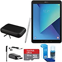 Samsung Galaxy Tab S3 9.7 Inch Tablet with S Pen - Silver - 32GB Accessory Bundle includes 32GB MicroSDHC Memory Card, Case for Tablets, Stylus, USB-C Adapter, Screen Cleaner and Earbuds