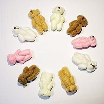 Amazon 1pc Super Kawaii Mini 4cm Joint Bowtie Teddy Bear Plush