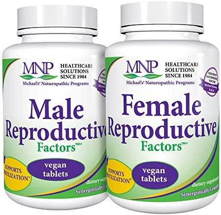 Michael's Naturopathic Programs Couples Pack - 120 Vegan Tablets - Male & Female Reproductive Factors Bundle, Supports Contraception & Pregnancy - Vegetarian, Kosher - 40 Total Servings