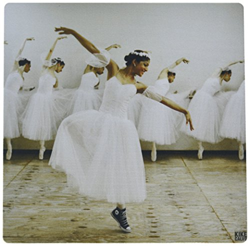 3dRose Happy Ballet Dancer with a Romantic Dress Yet Wearing Converse Snickers Pattern Mouse Pad (mp_10015_1)