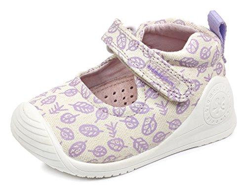 Biomecanics 172155, Zapatillas Para Bebés Beige (Yeso /     Estampado Hojas )
