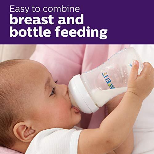 51GWJqrCnML - Philips Avent Natural Baby Bottle, Clear, 9oz, 4pk, SCF013/47