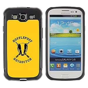 Suave TPU GEL Carcasa Funda Silicona Blando Estuche Caso de protección (para) Samsung Galaxy S3 III I9300 / CECELL Phone case / / Hufflepuff /