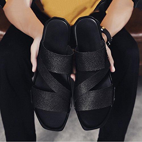 Size de Zhou 2 los Color Playa Sharon Aire Interiores Frescas Zapatillas al EU Zapatos de casa White Libre 42 Zapatillas Black Bajas 3 Zapatillas Perezosos Suaves de Hombres 6wwRdBSq