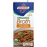Swanson Organic Broth, Chicken, 32 oz. Resealable Carton (Pack of 12)