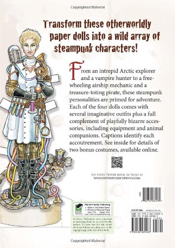 Steampunk Paper Dolls (Dover Paper Dolls) by Dover Publications (Image #2)