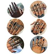 68 Pcs Vintage Knuckle Rings for Women Girls Stackable Midi Finger Ring Set
