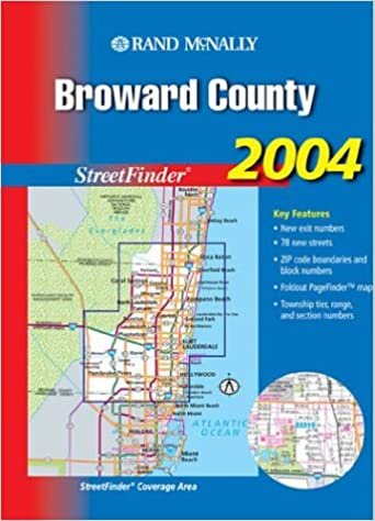 Streetfinder Broward County Rand McNally Amazon