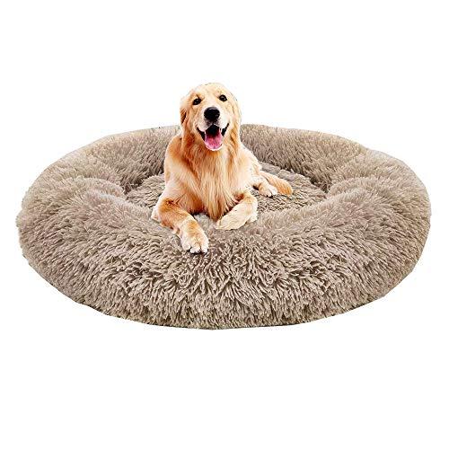 Monba Premium Orthopädisches Haustierbett für große und extra große Hunde,Donut Hundebett Weiches Plüsch Rundes…