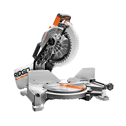 RIDGID 15-Amp 10 in. Dual Bevel Miter Saw with Laser