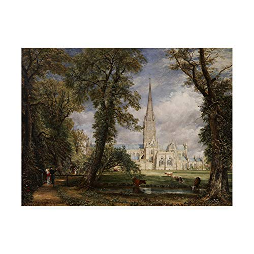 Trademark Fine Art Salisbury Cathedral by John Constable, 24x32, Multiple