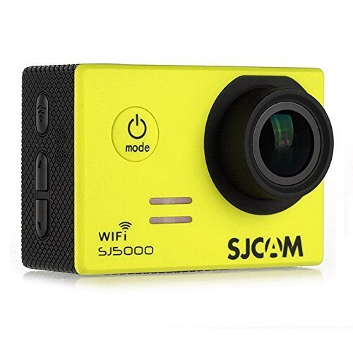 SJCAM SJ5000 WIFI Novatek 96655 14MP 170° Wide Angle 2.0'' LCD 1080P Sport Action Camera Waterproof Cam HD Camcorder Outdoor for Vehicle Diving Swimming (Yellow) Action Cameras SJCAM
