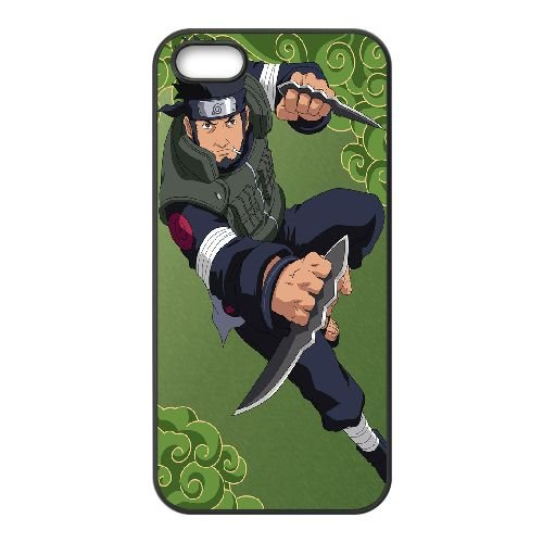 Asuma Sarutobi Naruto ShiPpuden coque iPhone 5 5S Housse téléphone Noir de couverture de cas coque EBDOBCKCO14760