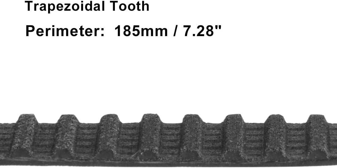 sourcing map T5-165 Gummi Geschlossener Zahnriemen Riemen Zahnriemensatz 10mm Breite DE de