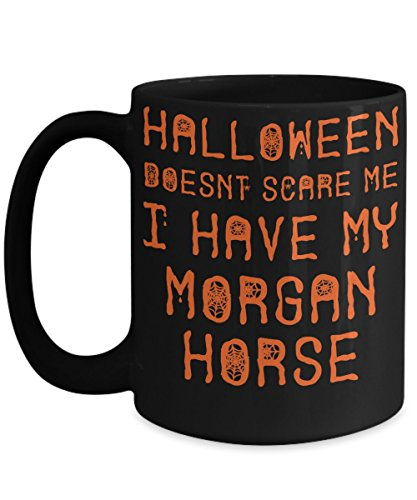 Halloween Morgan Horse Mug - White 11oz Ceramic Tea Coffee Cup - Perfect For Travel And Gifts -