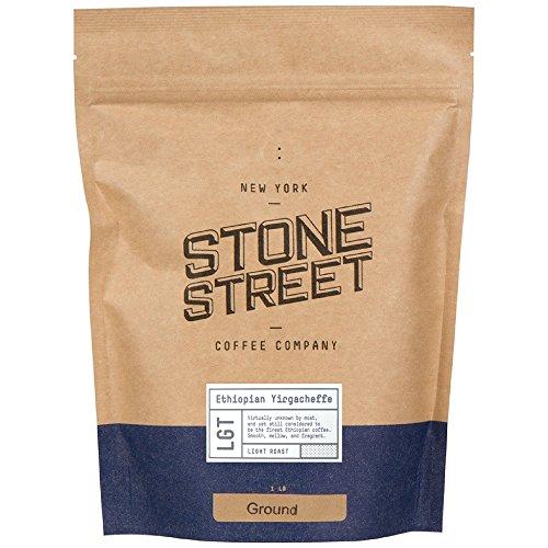 Ground Fresh (Stone Street Coffee Ethiopian Yirgacheffe Fresh Roasted Coffee, 1 lb Ground)