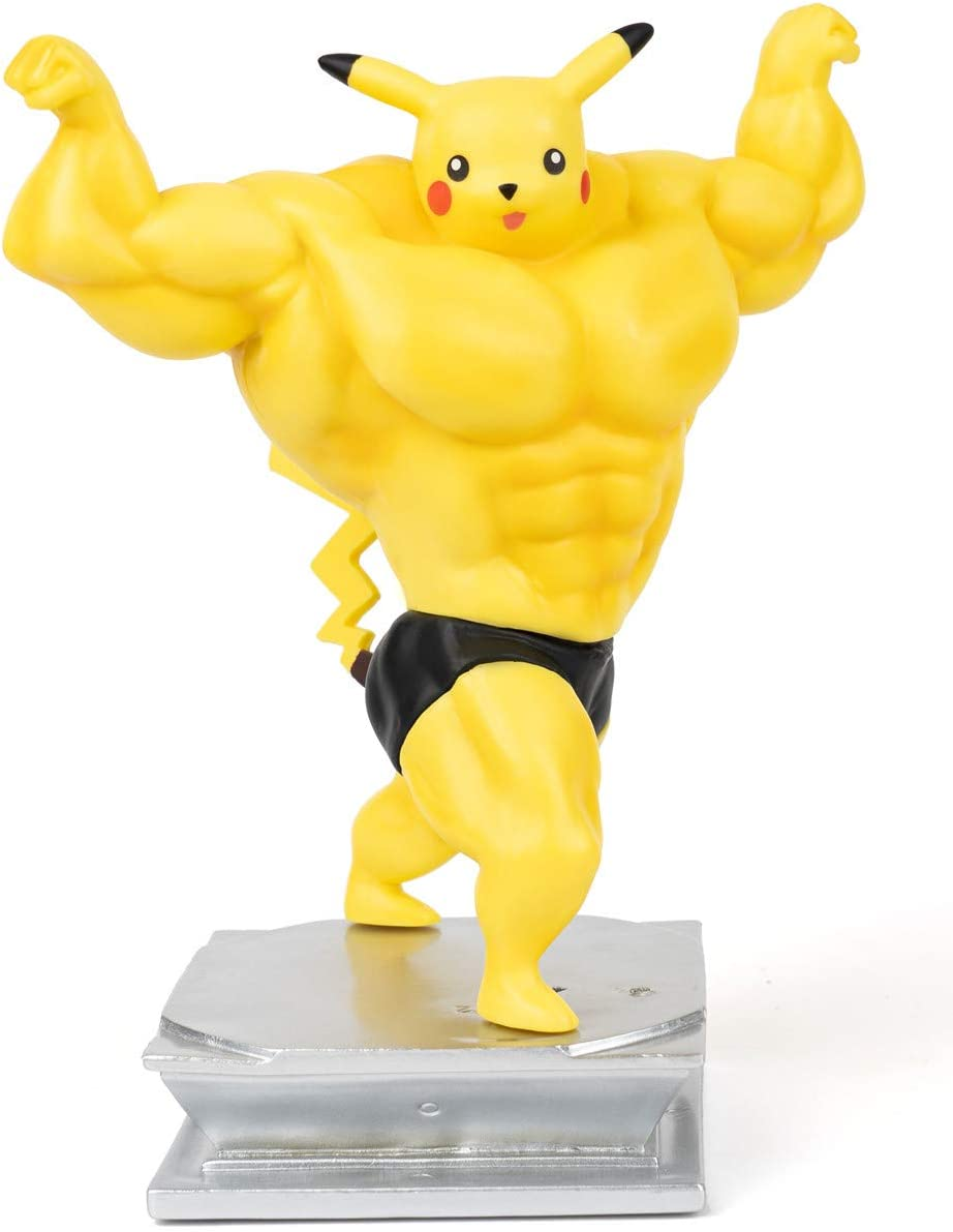 Anime Action Figure GK Pikachu Figure Statue Figurine Bodybuilding Series Collection Birthday Gifts PVC 7