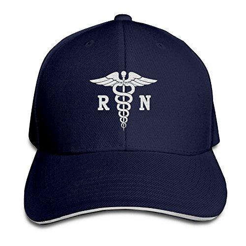 Cap Unstructured Sandwich - ETACAP Registered Nurse RN Embroidery Baseball Hat Dad Hat Adjustable Sandwich Bill Cap Unstructured Caps