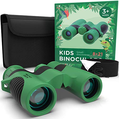 Binoculars for Kids High Resolution - Childrens Toy Binoculars 8x21 for Spy Camping Gear Educational Toys Spy Game Adventure Hiking Bird Watching Gift for 3-12 Year Old Boys and Girls