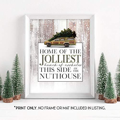 Amazon Com Home Of The Jolliest Bunch National Lampoon S Christmas Vacation Unframed 11x14 Inch Art Print Holiday Decor Handmade